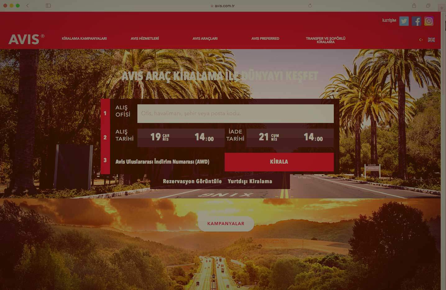Avis.com.tr UX Design